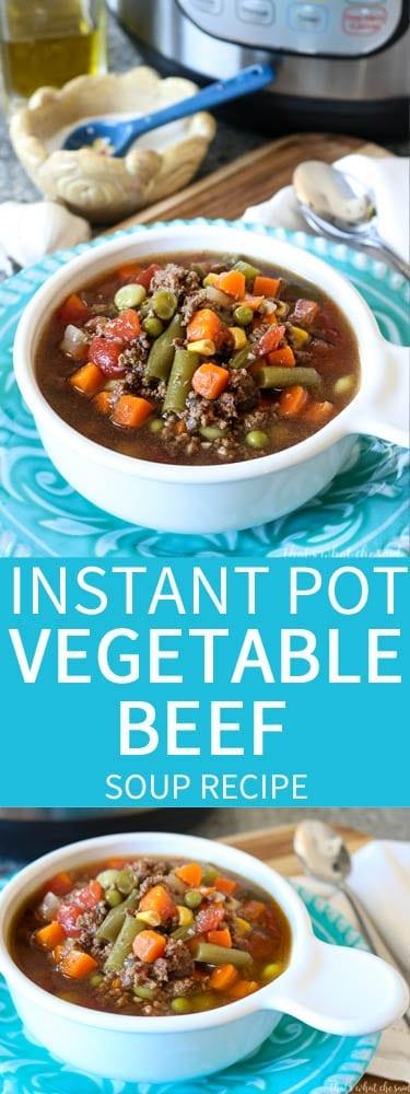 Instant Pot Vegetable Beef Soup Recipe