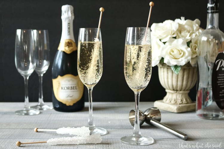 Vanilla Champagne Cocktail