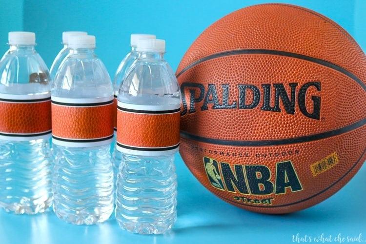 Basketball Water Bottle Labels