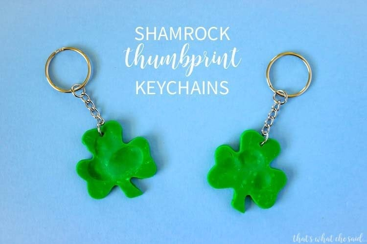 Shamrock Fingerprint Keychain