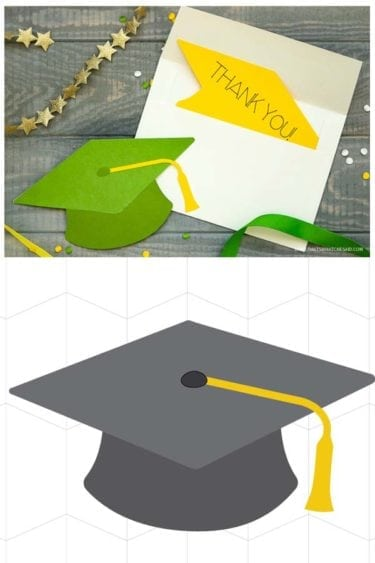 Create the perfect Graduation Card with this Grad Cap file, your cricut and these simple instructions!