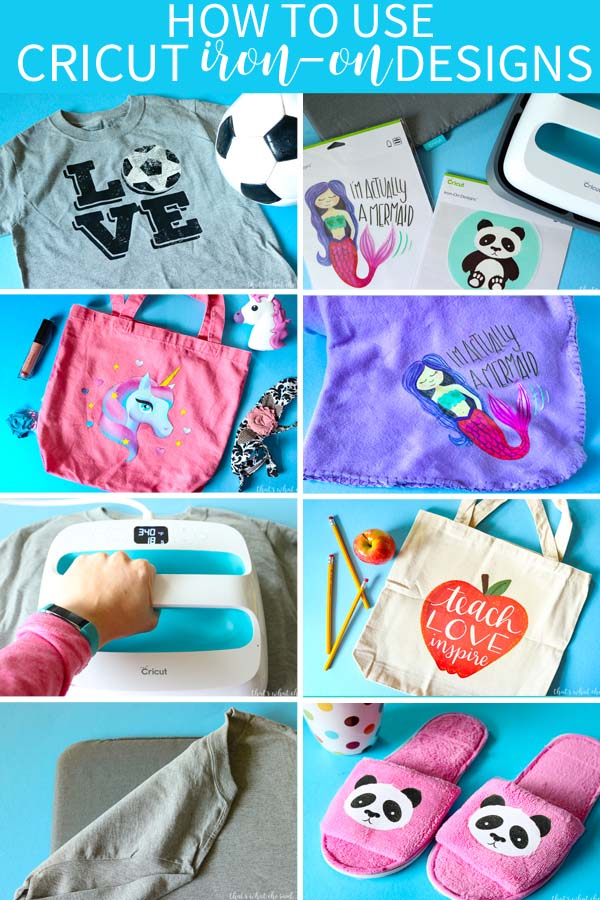 Make awesome projects in minutes with Cricut Iron-on Designs! So many to choose from and so easy to use!