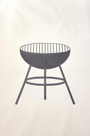 White Apron with solid color Grill Design