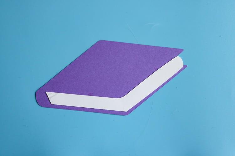 Purple Paper School Book Cut Out