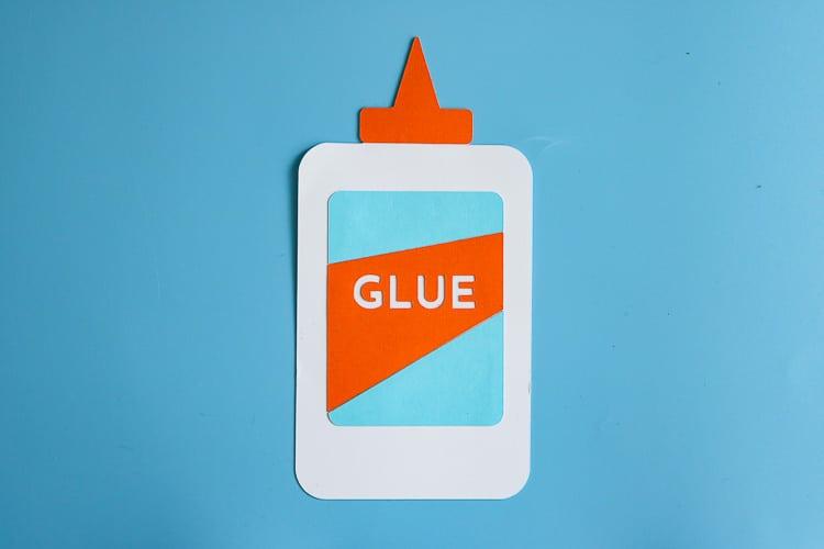 Paper Glue Bottle Cut Out
