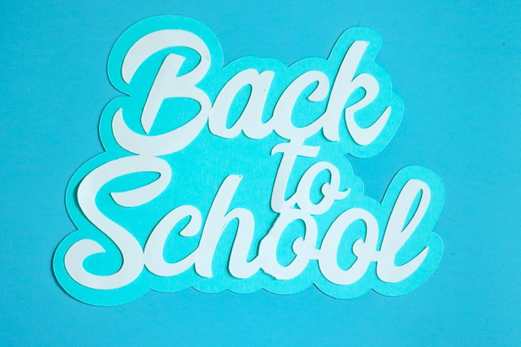 Paper Back to School Cut Out