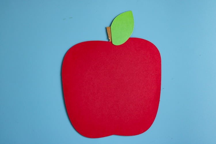 Paper Back to School Apple Cut out
