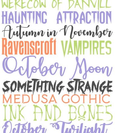 13 Free Halloween fonts to use for invites, banners, arts & crafts