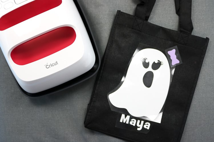 EasyPress 2 in 6x7 size with tote bag and weeded ghost designs