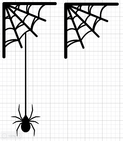 Design image for Spider Placemats and Napkins in Cricut Design Space