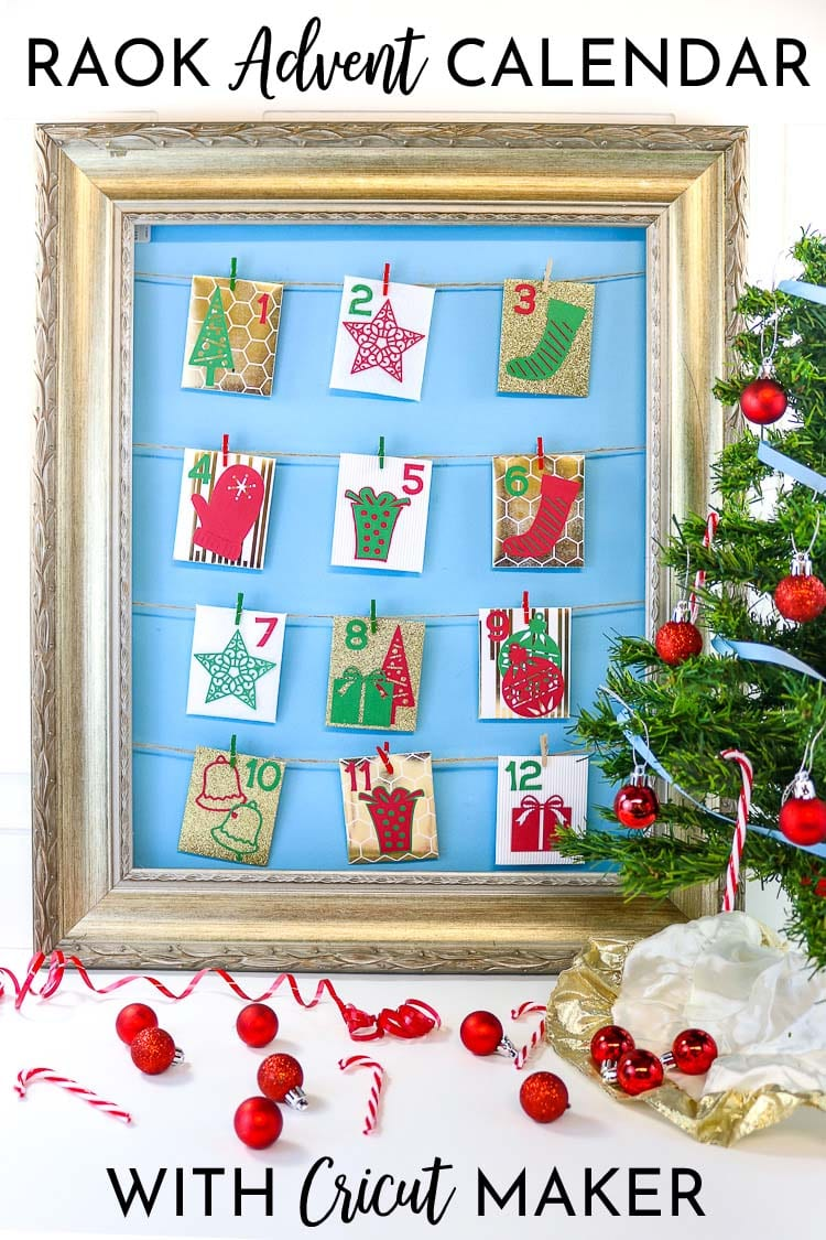 Random Acts of Kindness Advent Calendar made with felt, corrugated cardboard, Foil Embossed cardboard, Glitter Cardstock, Iron on, Vinyl, Pens and more!