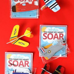 Airplane Valentine Card Printable