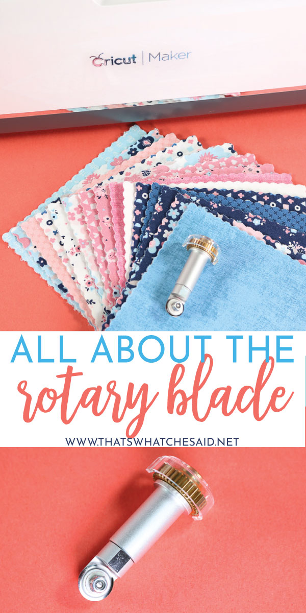 Everything You need to know about the Cricut Rotary Blade. How to install, what it can do and how to use it!