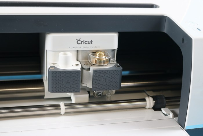 Cricut Maker Carriage with Rotary Blade Installed