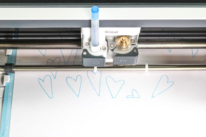 Cricut Maker with Scoring Wheel and Pen in Carriage