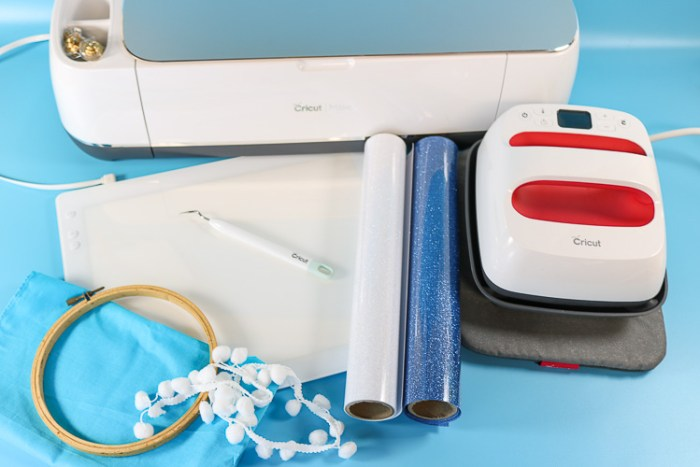 Cricut Maker, Embroider Hoop Supplies and Cricut BrighPad