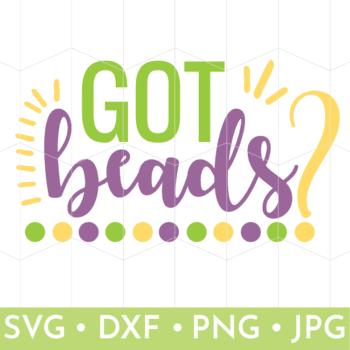Got Beads? Mardi Gras SVG file