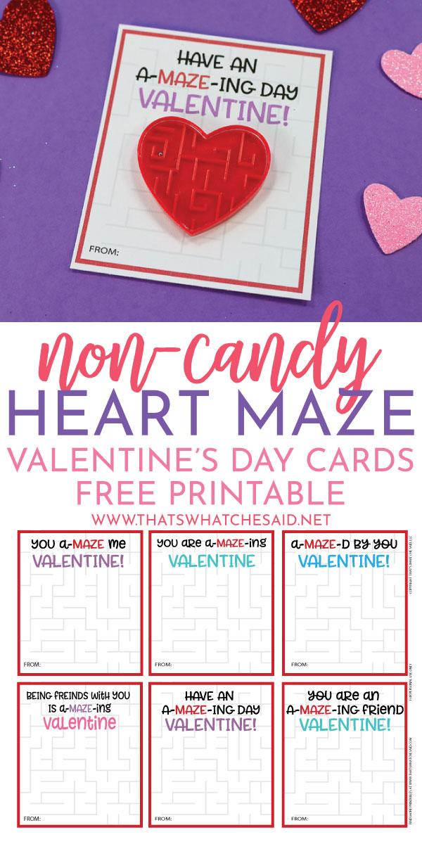 Non Candy Heart Maze Valentine Card idea