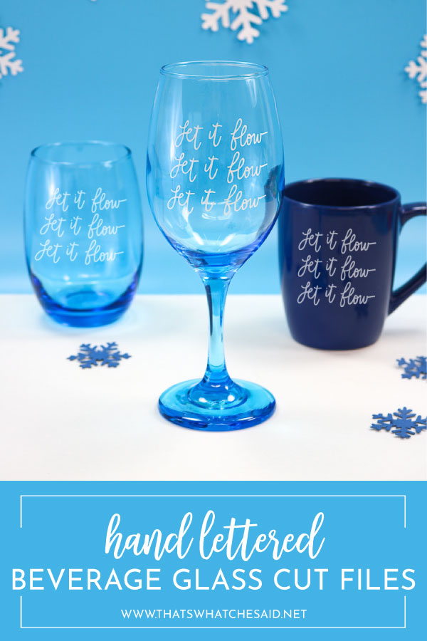 handlettered wine glass decal