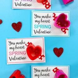 Slinky Valentine Printable