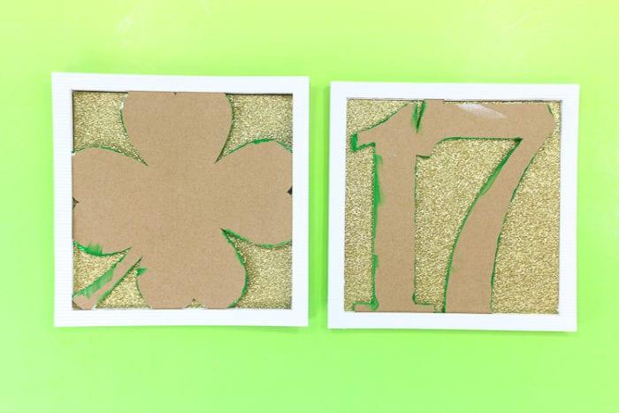 Add white corrugated cardboard frame
