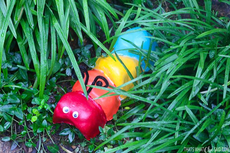 Caterpillar Garden Stone In the Garden