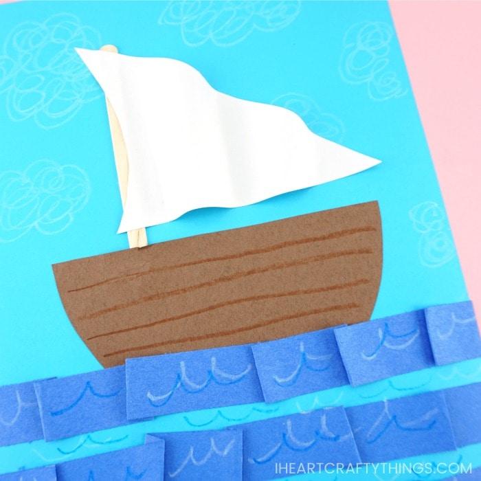 Sailboat construction paper craft