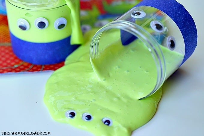Toy Story Green Alien Slime with googly eyes