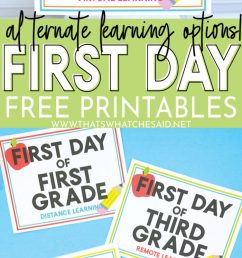 First Day of School Free Printables - Alternate Learning Options – That's  What {Che} Said... [ 1492 x 700 Pixel ]