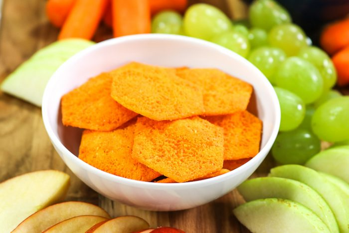 close up of cheese cripsers