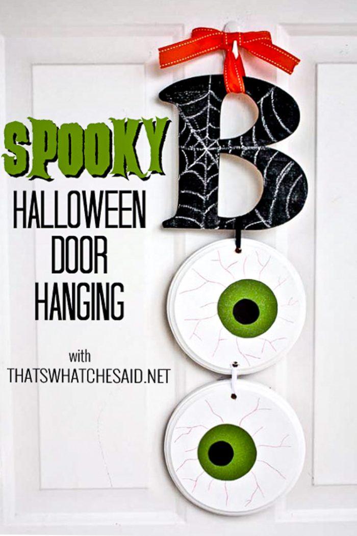 Boo Door Hanging with Words for Pinterest