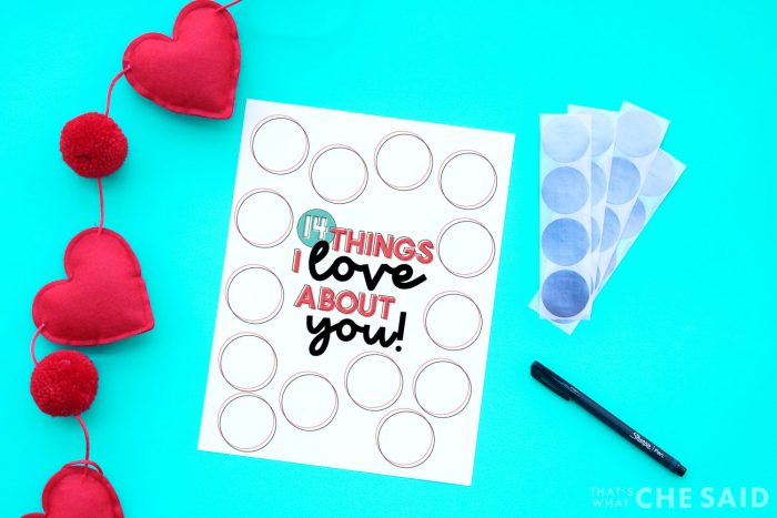 Scratch off printable, scratch off stickers with pen on aqua background