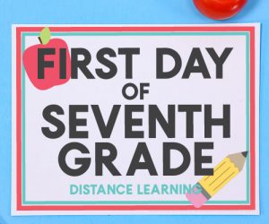 Distance Learning - First Day of School Signs
