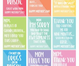 Funny Gift Tags for Mother