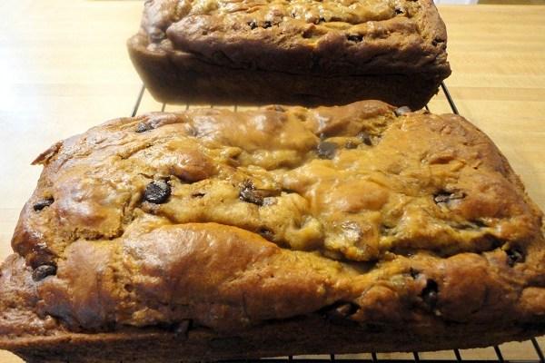 Gluten Free Banana Chocolate Chip Bread