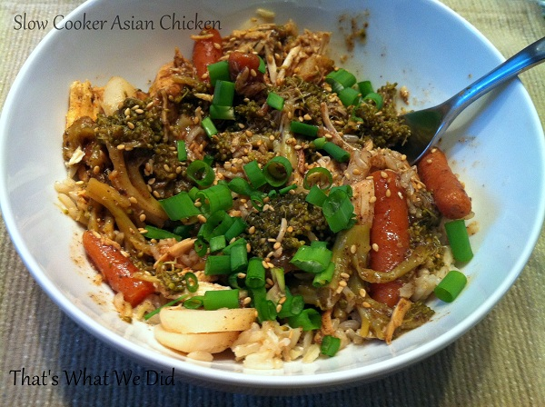 slow cooker spicy asian chicken