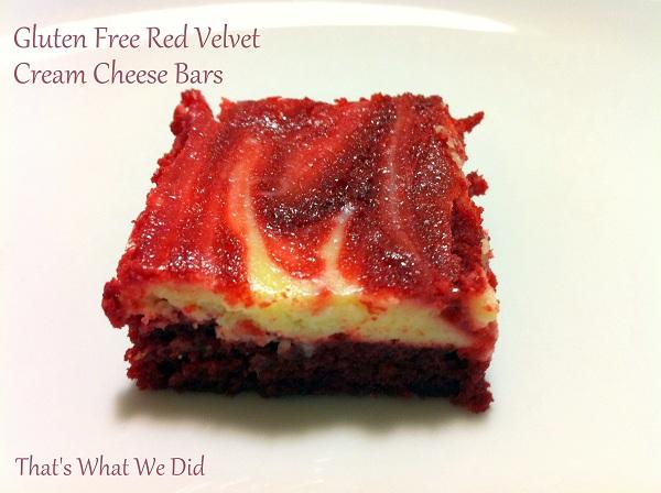 Gluten Free Red Velvet Cream Cheese Bars