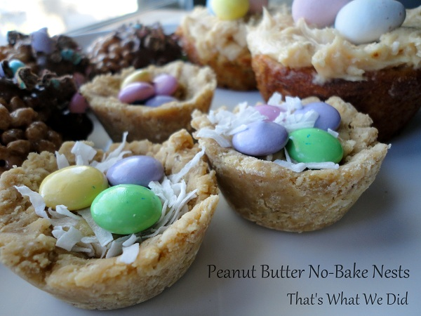 Gluten Free Peanut Butter No-Bake Nests