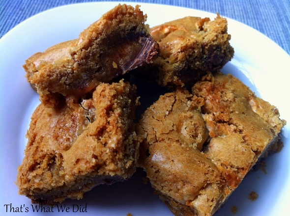 Gluten Free Peanut Butter Cup Cookie Dough Crumble Bars