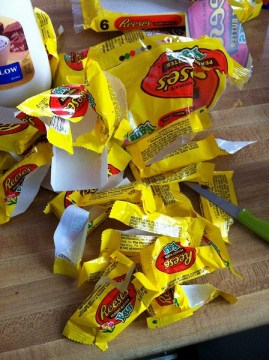 gluten free reeses eggs brownies