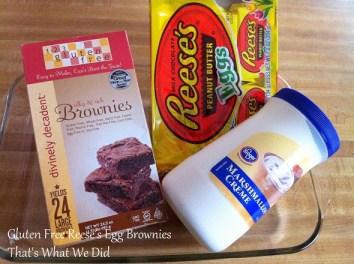 reeses egg brownie ingredients