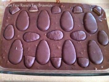 reeses egg brownies batter