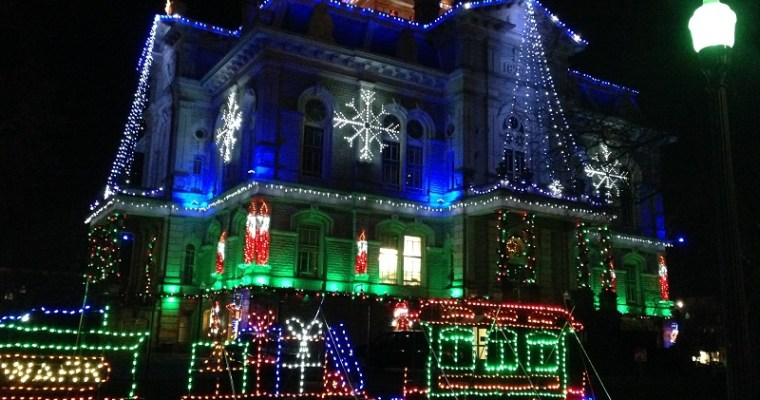 Christmas Lights in Downtown Newark