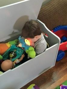 jenson kissing his baby