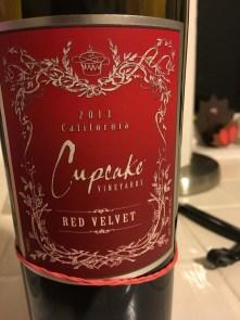 cupcake wine red velvet