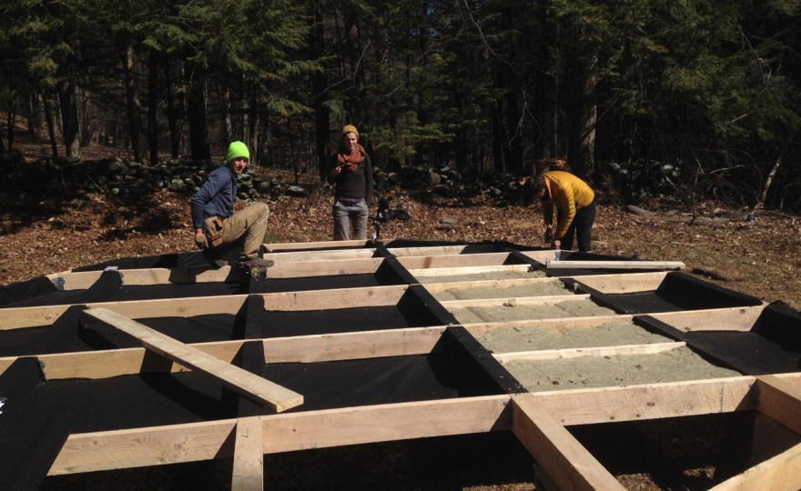 Building the Yurt Platform #2: Insulation & Flooring