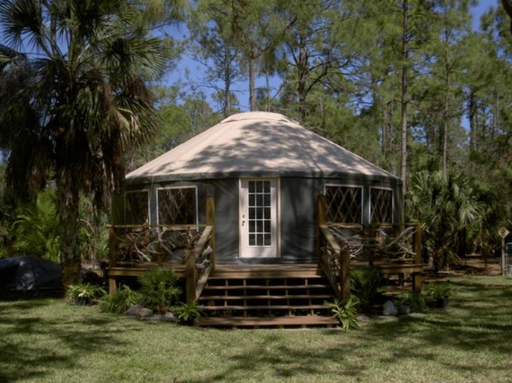 Yurt from Yurts of America.