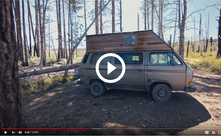 Screenshot of Frye's van from the FLORB YouTube documentary