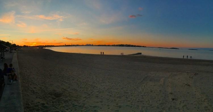 Wollaston Beach at Sunset