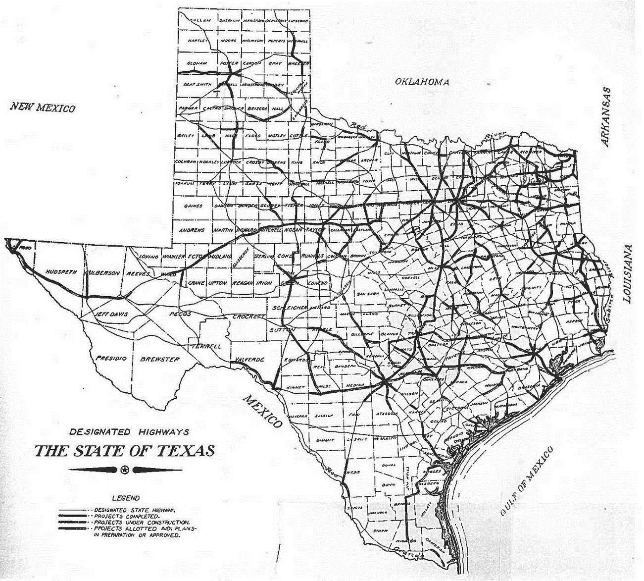 Texas Highway Department Thc Texas